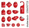 Red tag Beauty multishape / for sale / business / advertising /promotion / festival - stock photo