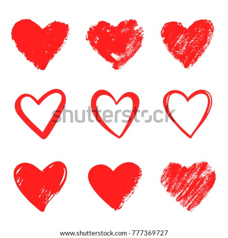 set hearts grunge stamps collectionlove shapes stock vector rh shutterstock com Valentine's Day Tumblr Drawing Valentine's Day Cards for Friends