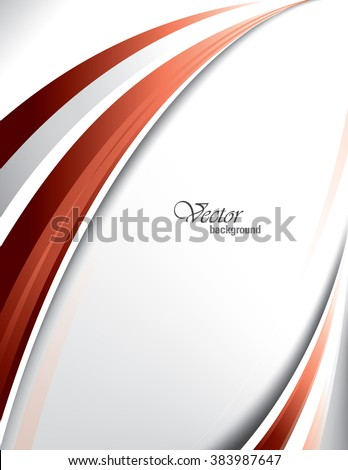Red Vector Modern Wavy Background. Eps10.