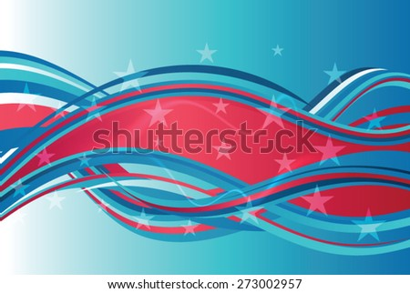 Red, white and blue American Background