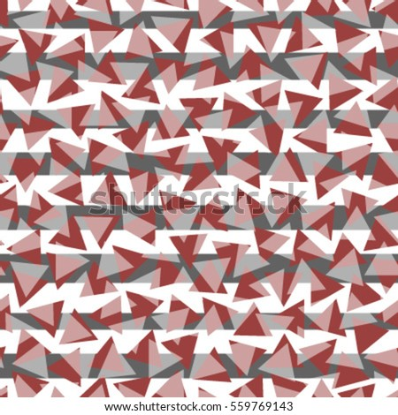 red white triangles seamless pattern