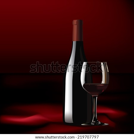 red wine and thai silk vector