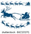 Reindeer and Santa Claus. The best element for your design. - stock vector