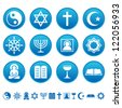 Religion icons - stock photo