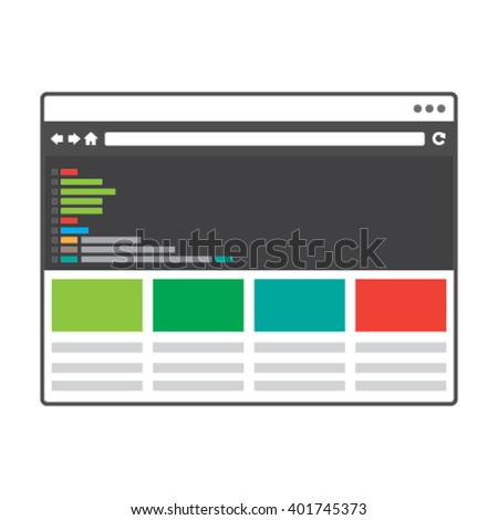 Responsive Web Design & Development Icon - Vector