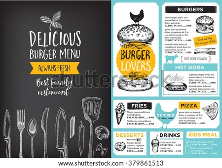 restaurant brochure template - restaurant cafe menu template design food vectores en