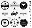 Restaurant labels set - stock vector
