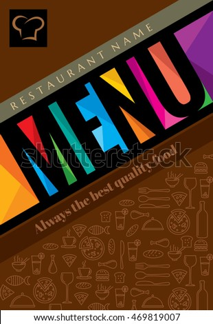 restaurant menu card design template creative stock vector