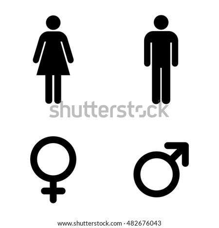 Bathroom Sign Language Symbol man lady toilet sign male female stock vector 302258540 - shutterstock