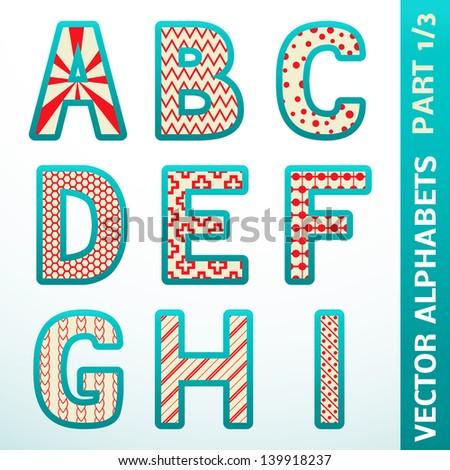 Vector Alphabet Handdrawn Letters A B Stock Vector 276224105 ...