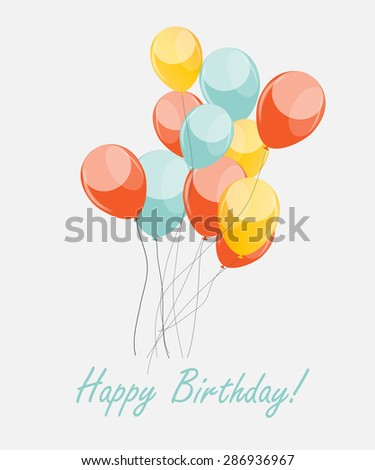 Retro Balloons Background Vector Illustration EPS10