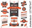 Retro banners. Set of labels and stickers. - stock vector