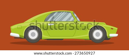 Vector Resizable Modern Sportscar Illustration Brandless Stock