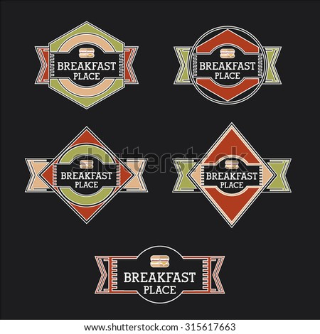 Gladiator Emblems Set Stock Illustration 383077954