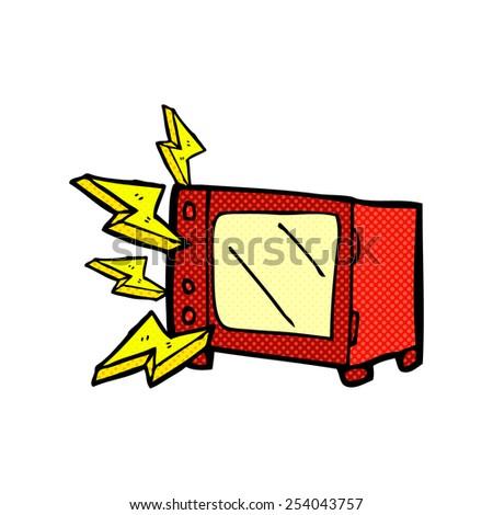 broken microwave clipart. retro comic book style cartoon microwave broken clipart m