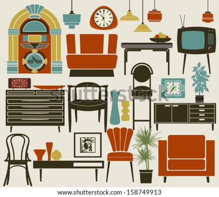 Retro Furniture, Accessories and Appliances, including diner-style ...