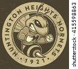 """retro """"hornets"""" athletic design ..."""