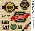 Retro labels set. Vintage labels collection. - stock vector