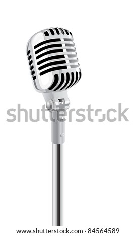 Retro Microphone On Stand. (in the gallery also available XXL jpeg image made from this vector)