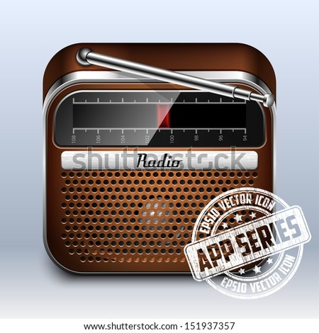 Retro Radio Icon, App Series