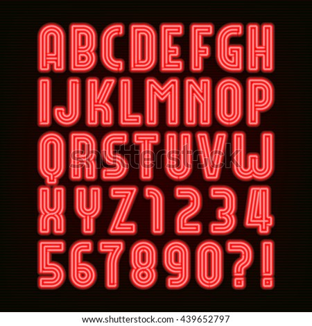 glowing red neon alphabet letters z stock vector 546715087. Black Bedroom Furniture Sets. Home Design Ideas