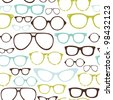 Retro Seamless spectacles - stock vector