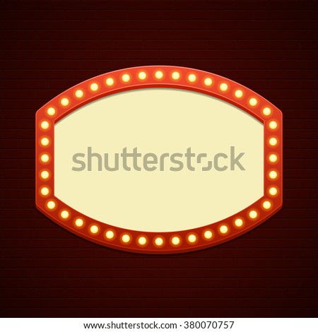 Retro Billboard Waiting Your Message Vector Stock Vector ...