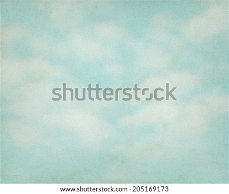 Retro sky background. Vector illustration.