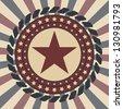 Retro Star Vintage card. Vector illustration EPS10 - stock vector