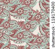 Retro style. Floral pattern in retro style. Vector illustration. - stock vector