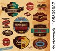 Retro style labels and badges vintage collection. Limited edition. Premium quality. - stock vector