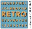 Retro type font, vintage typography ,Illustratiom EPS10 - stock photo