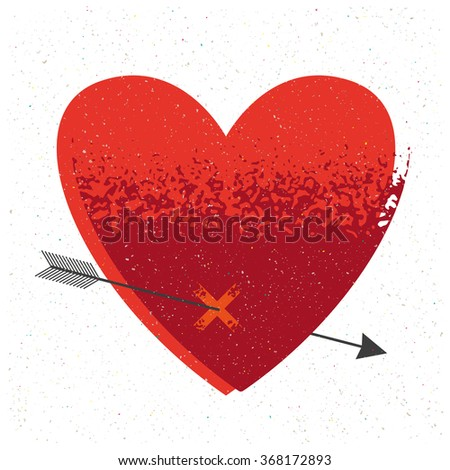 Retro Valentines day card. Vector love concept.