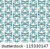 Retro Vector Abstract Atomic Era Background Pattern - stock vector