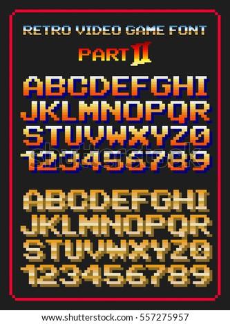 Retro Video Game Font Stock Vector 371073995 - Shutterstock