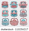 Retro, vintage, Badge and label vector icon logo design - stock vector