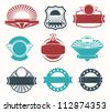 Retro vintage label badges - stock vector