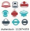 Retro vintage label badges - stock vector