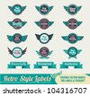 Retro Vintage Premium quality labels and stickers - stock vector