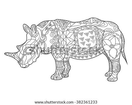Tapir stock illustration 327650135 shutterstock for Tapir coloring page