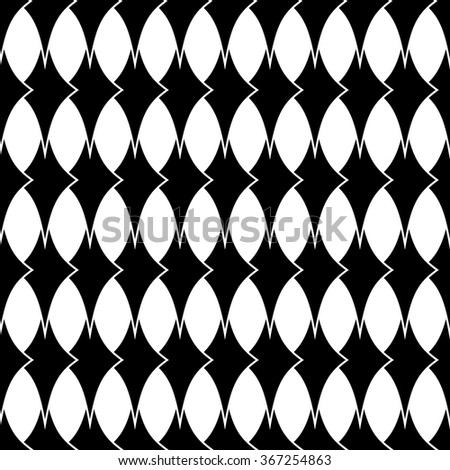 Rhombus geometric seamless pattern. Fashion graphic background design. Modern stylish abstract texture. Monochrome template for prints, textiles, wrapping, wallpaper, website etc. VECTOR illustration
