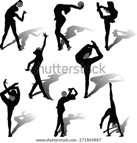 rhythmic gymnastics with the ball