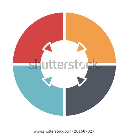 stock vector ring diagram of four colored sections template infographics 281687327 ring diagram six colored sections template stock vector 281687333 ring diagram at soozxer.org