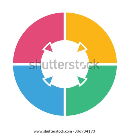 stock vector ring diagram of four colored sections template infographics 306934193 ring diagram three colored sections template stock vector ring diagram at soozxer.org