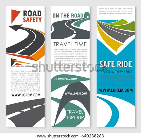 road safety transit service banner template stock vector 595372403 shutterstock. Black Bedroom Furniture Sets. Home Design Ideas