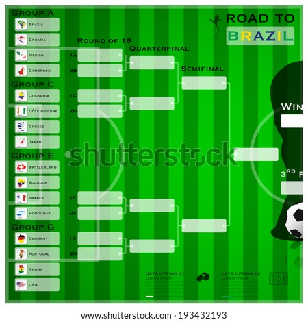 Football Tournament Sport Flat Icon Infographic Stock Vector ...