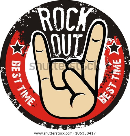 Rock and roll sign vector