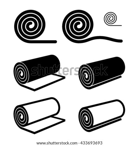 Cock silhouette stock vector 17173747 shutterstock for Carpet roll logo