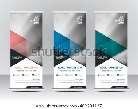 Roll Banner Stand Template Design Stock Vector 530222944 ...