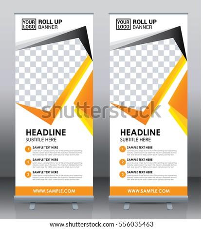 Roll Banner Template Design Pull Banner Stock Vector 549761686 ...